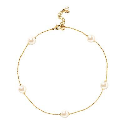 Kiel James Patrick 美國手工 經典優雅珍珠金色項鍊