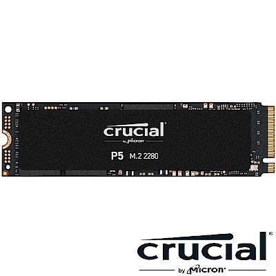 美光 Micron Crucial P5 1TB PCIe M.2 TLC SSD固態硬碟(讀:3400M/寫:3000M)