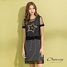 OUWEY歐薇 閃亮星星兩件式條紋洋裝(黑)
