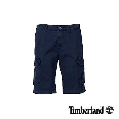 Timberland 男款深寶石藍色彈力多口袋工作短褲|A1WGN