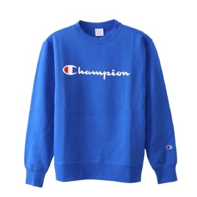 Champion Basic Logo 經典款大學Tee 寶藍色