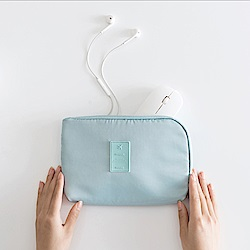 PUSH!旅遊用品3C收納包雜物包能裝手機,移動硬碟,行動電源S71