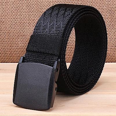 ZK2051BK塑鋼扣頭尼龍腰帶黑色腰圍20吋-40吋適用