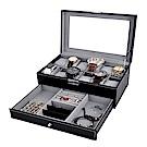 梨花HaNA 12位置手錶皮革珍藏飾品雙層收納盒/珠寶箱