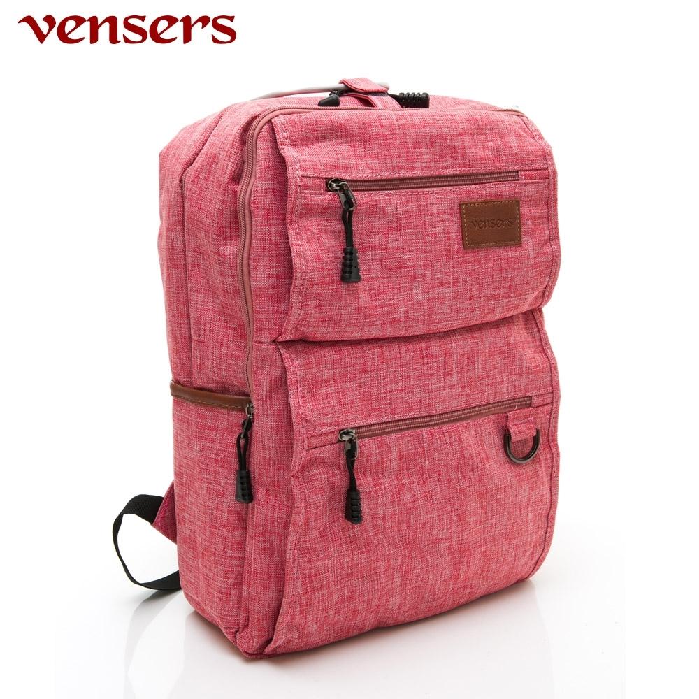【vensers】簡約丹寧牛仔後背包(R00066104粉色)