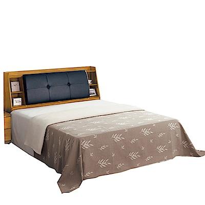 綠活居 波比亞5尺皮革雙人床台(床頭+床底+不含床墊)-152x216.5x103cm免組