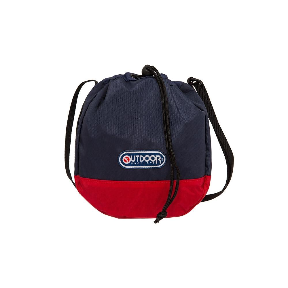 【OUTDOOR】束口側背包-深藍/紅色 OD101123NR