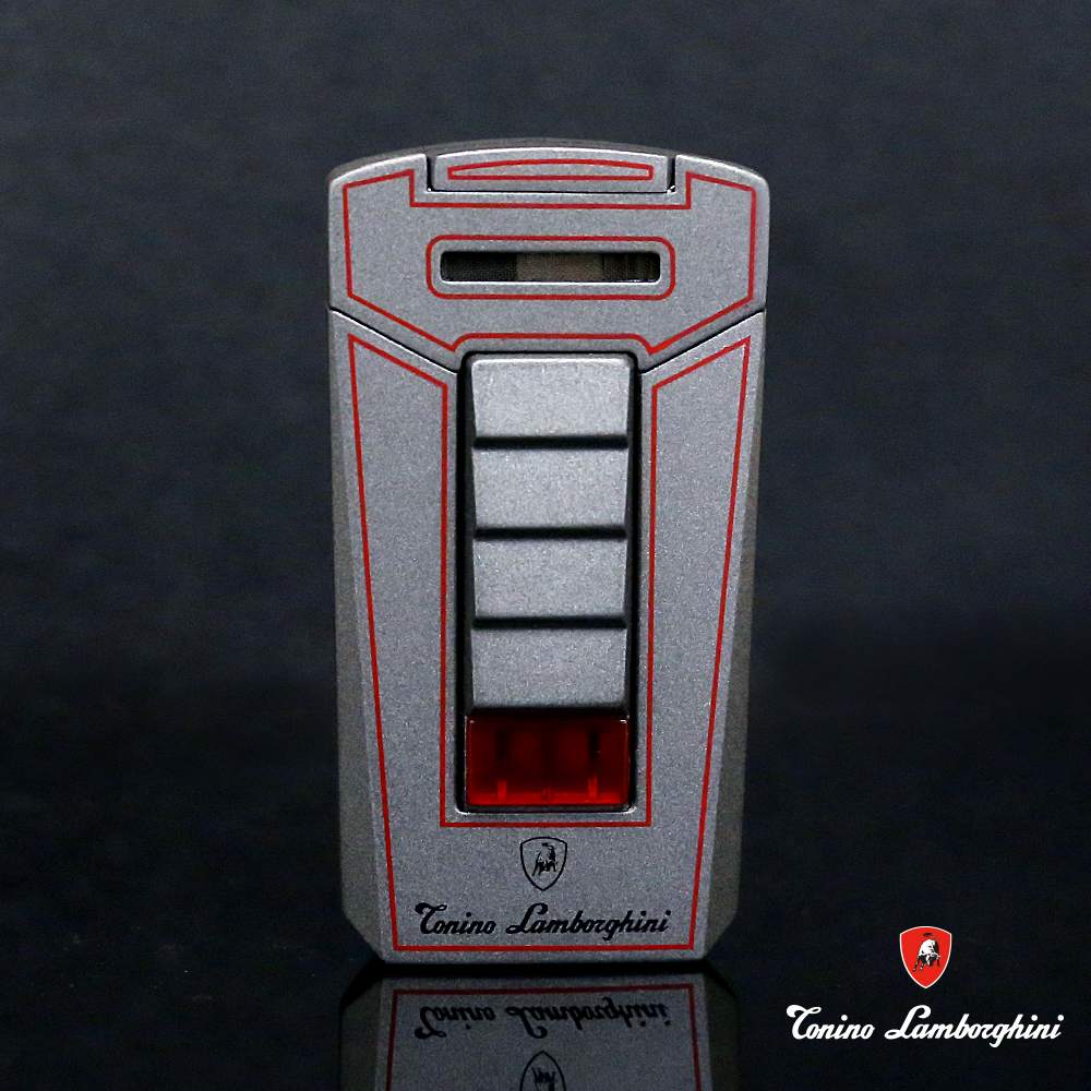 藍寶堅尼Tonino Lamborghini AERO LIGHTER 打火機(灰底紅線)