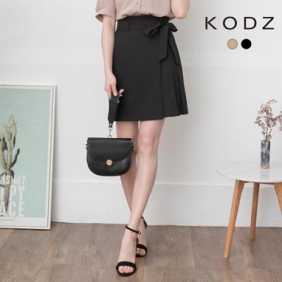 東京著衣-KODZ 甜美必備附綁帶一片式造型短裙-S.M.L(共二色)
