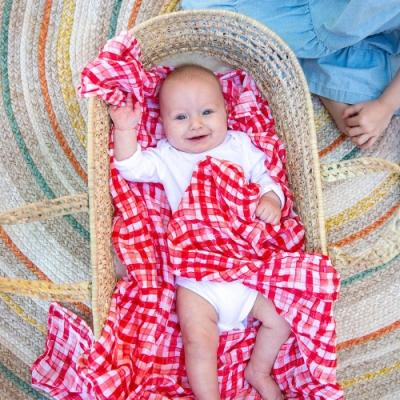 美國 Bebe Au Lait 經典棉紗布包巾2入禮盒 (蟲蟲野餐去)