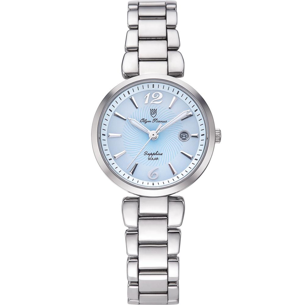 奧柏表 Olym Pianus 潮流太陽能淑女腕錶-藍 5699LS