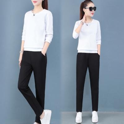 【韓國K.W.】(預購)樂活舒適運動套裝褲-1色