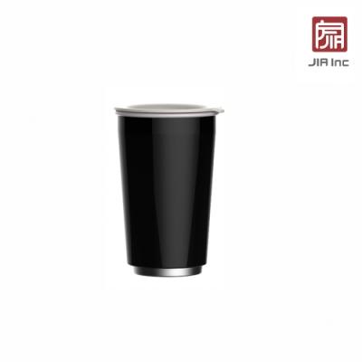JIA Inc. 品家家品 虹彩鋼 雙層琺瑯塗層隨行杯350ml-黑