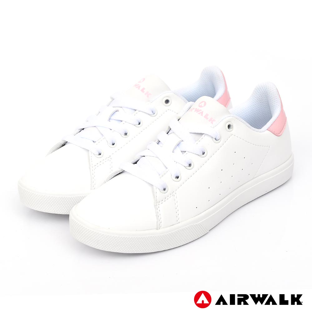 【AIRWALK】經典潮流休閒鞋-女款-白粉