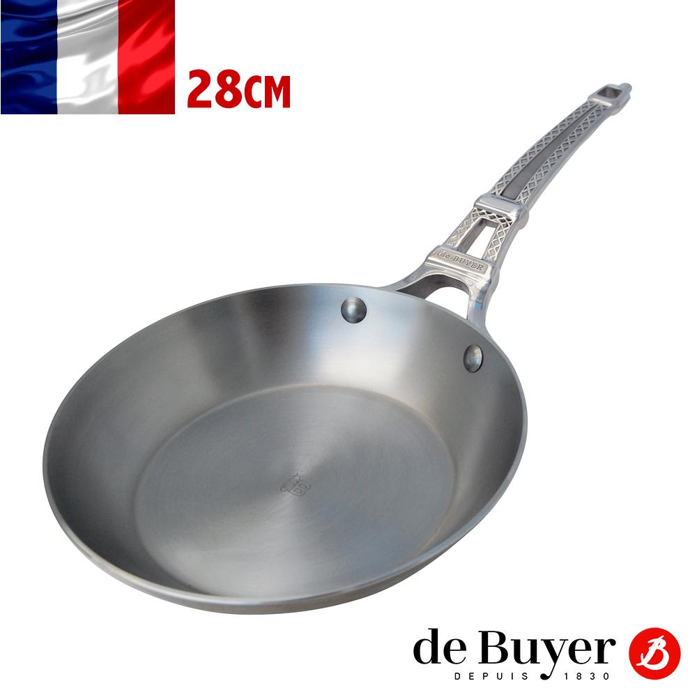 法國de Buyer畢耶 巴黎原礦蜂蠟系列-單柄平底鍋28cm