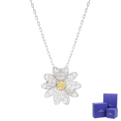 SWAROVSKI 施華洛世奇 Eternal Flower璀璨水晶雛菊造型銀色項鍊