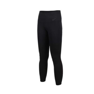NIKE 女運動七分褲-路跑 慢跑 健身 緊身長褲 黑