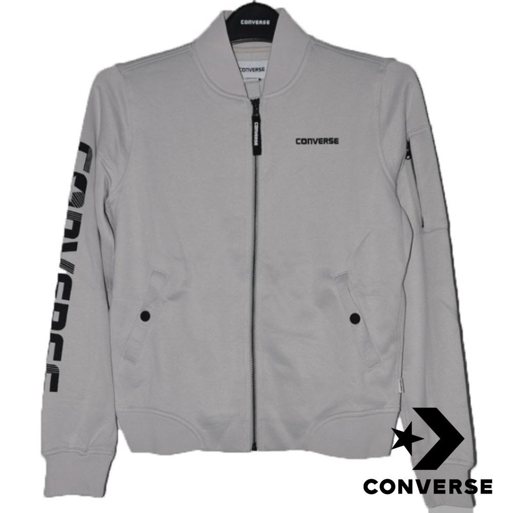 CONVERSE-女休閒立領外套-灰-10004507-A01