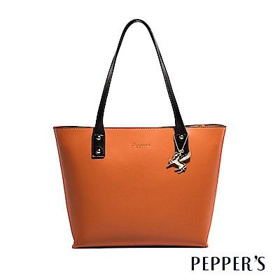 PEPPER`S Norah 牛皮托特包 - 焦糖棕