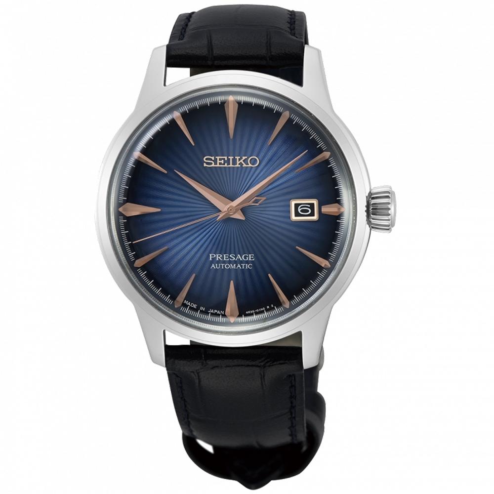 SEIKO精工 PRESAGE 調酒師動力儲存機械錶-40.5mm(SRPE13J1)