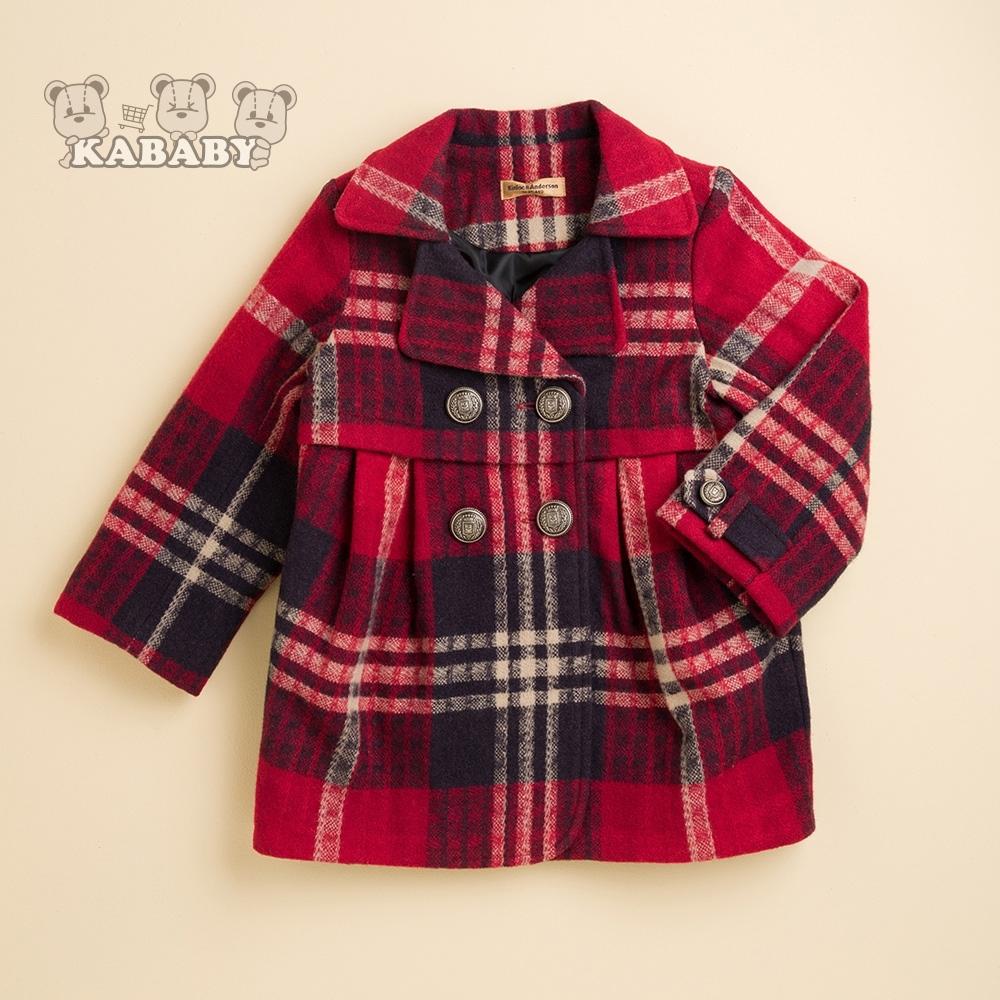 【金安德森】KA經典紅格毛料外套 (紅色)