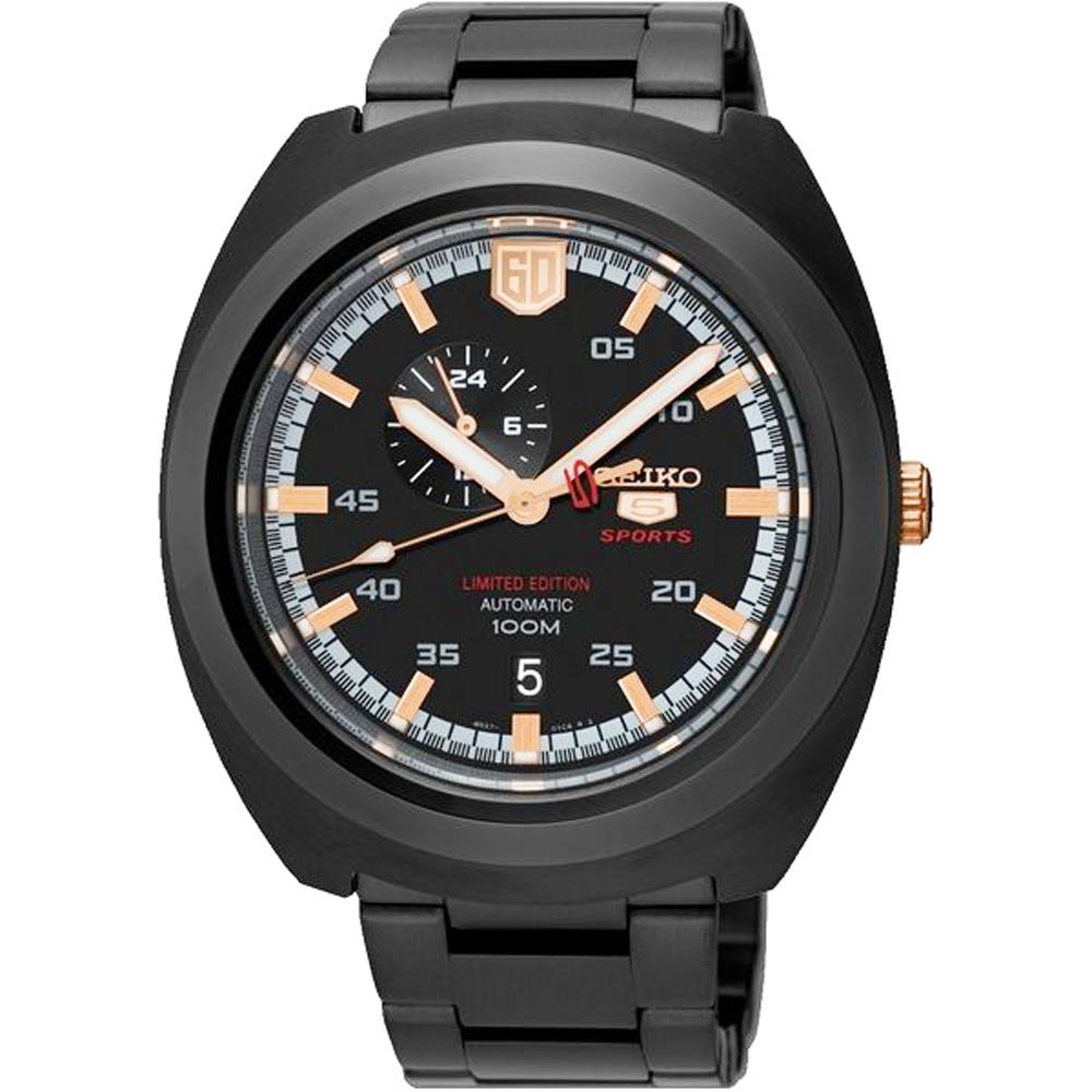 SEIKO 精工盾牌五號時尚機械手錶SSA315J1-灰/45mm