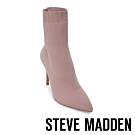 Steve Madden-CLAIRE 極致美腿襪針織襪套尖頭短靴-特殊紋粉紅色