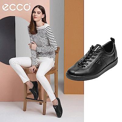 ECCO SOFT 1 極簡舒適休閒鞋-黑