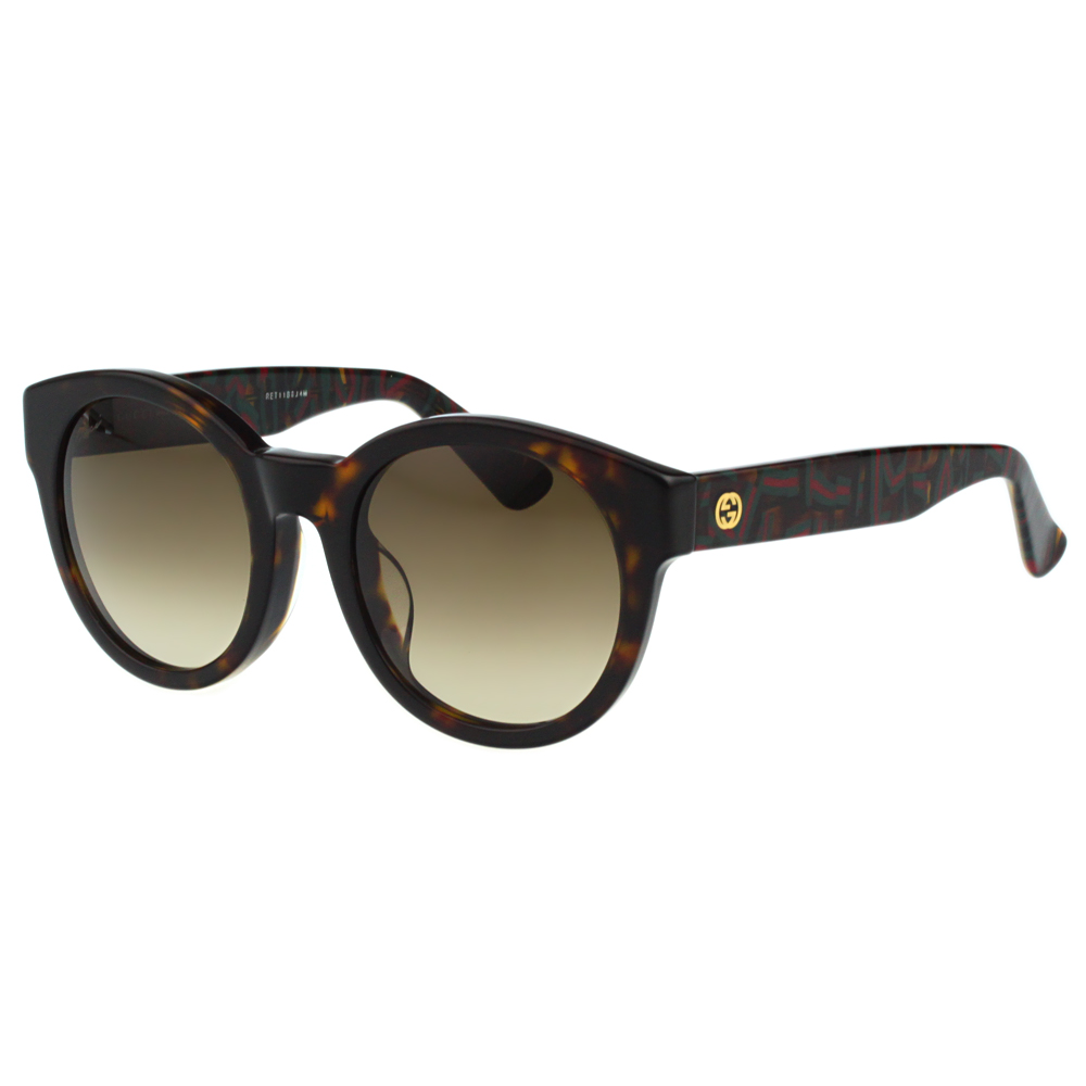 GUCCI-時尚復古太陽眼鏡(琥珀色)