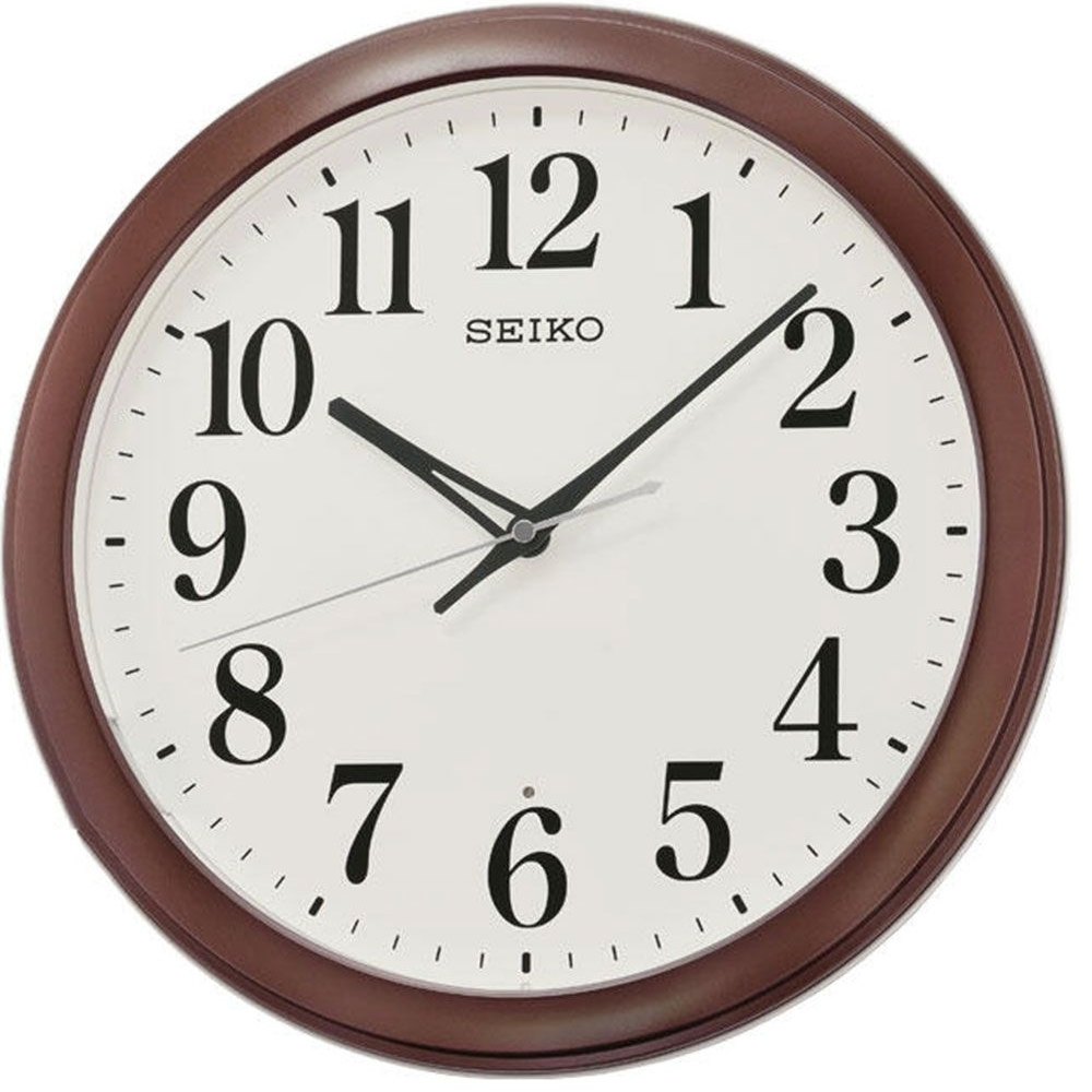 SEIKO 日本精工 滑動式秒針 靜音 掛鐘(QXA776B)咖啡/33cm
