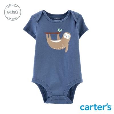 【carter s】 樹懶體操粉藍包屁衣 (台灣總代理)