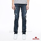 BRAPPERS 男款 HM中腰系列-中腰彈性修身直筒褲-深藍