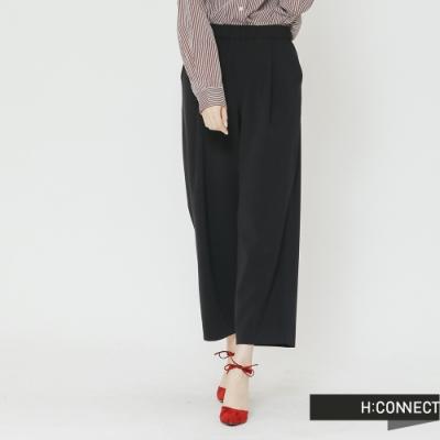 H:CONNECT 韓國品牌 女裝-質感純色寬褲-藍(快)