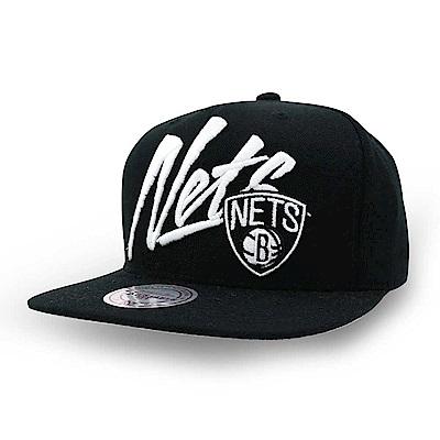M&N NBA Vice Script Solid棒球帽 馬刺隊黑色