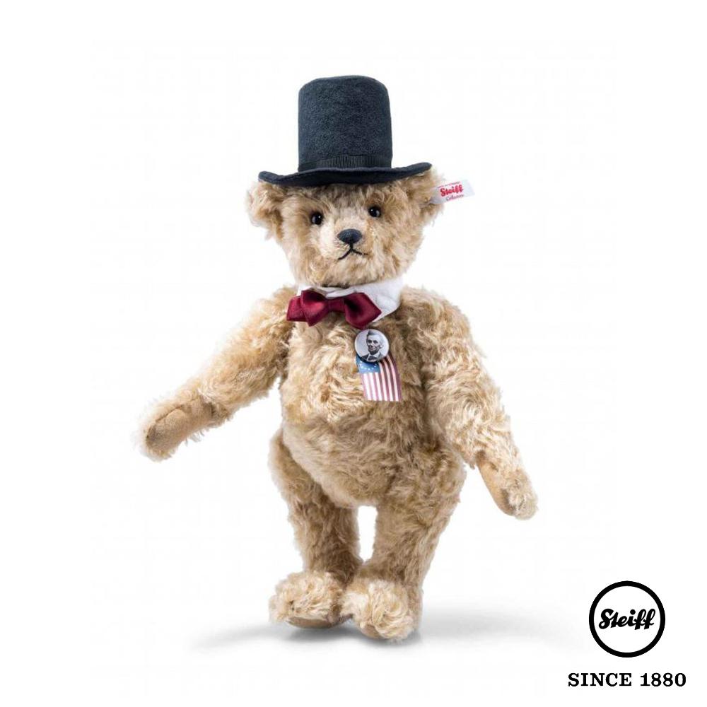 STEIFF德國金耳釦泰迪熊 林肯總統 Lincoln Teddy Bear(限量版)