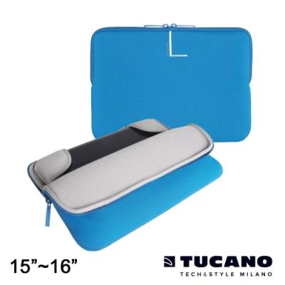 TUCANO Colore 多彩時尚筆電防震內袋 15.6吋-藍
