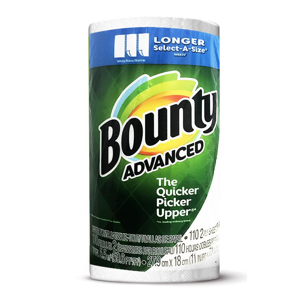 美國Bounty廚房紙巾-隨意撕(110張)/捲