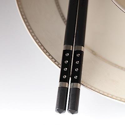 璀璨星光合金筷20雙入-黑