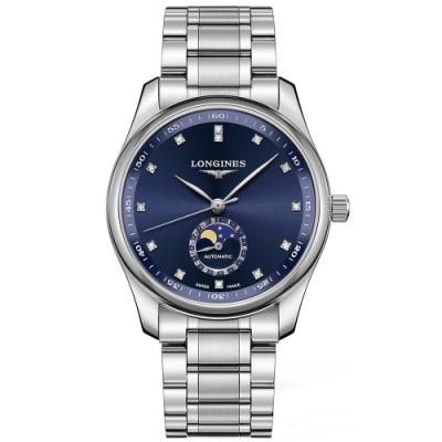 LONGINES 浪琴 Master 巨擘系列月相真鑽機械錶-40mm L29094976
