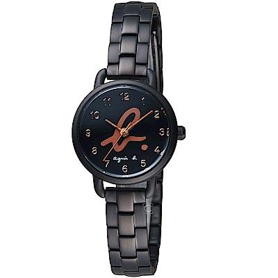 agnes b.經典Logo藝術時尚腕錶(BH8043X1)