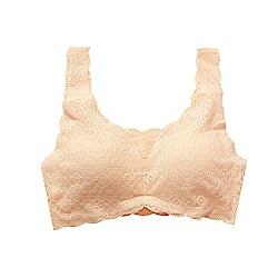 Show bra美背無鋼圈蕾絲內衣(膚)