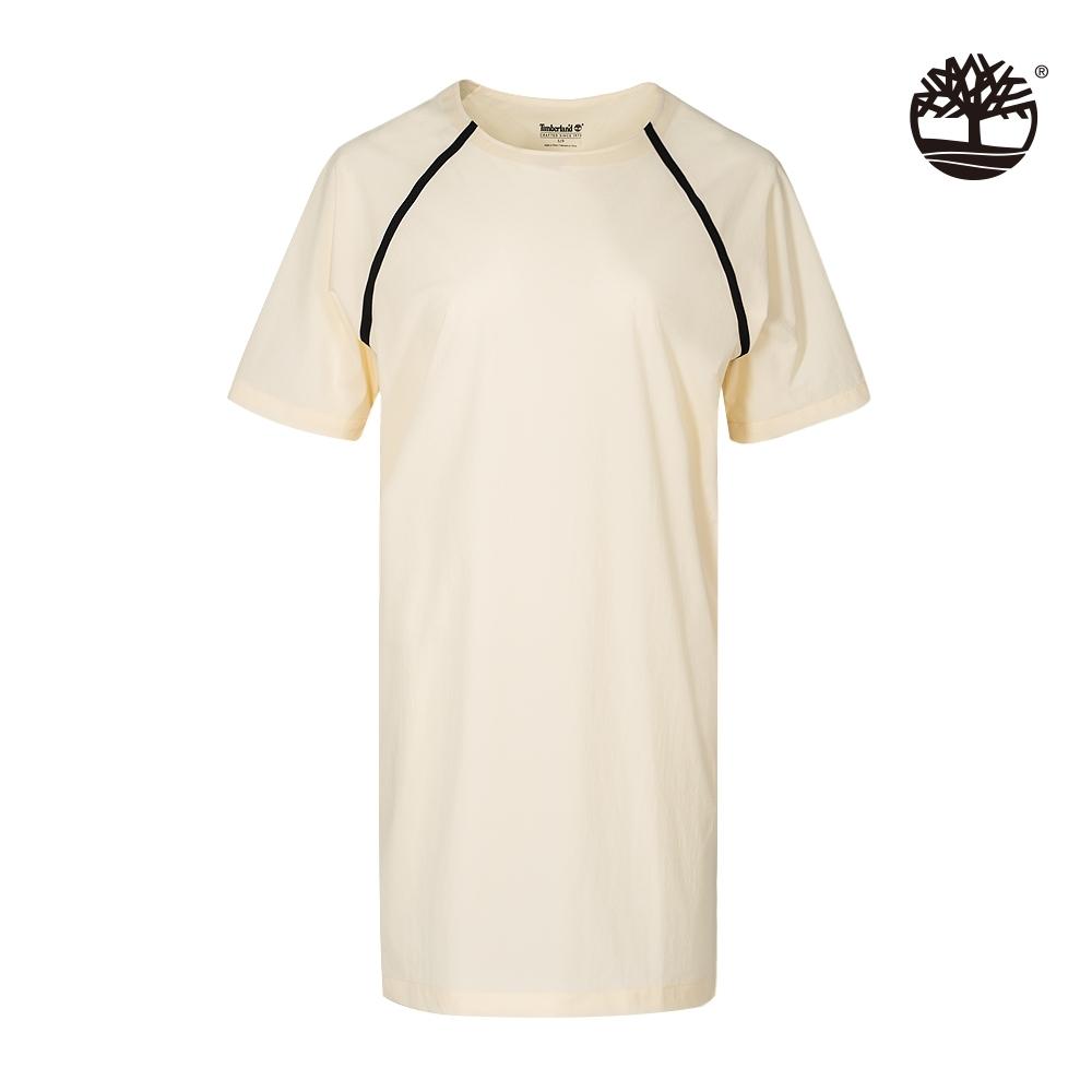 Timberland 女款嫩米黃輕質尼龍連身裙|B4401