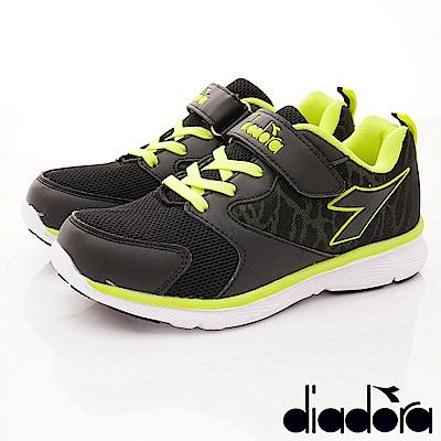DIADORA 3E避震Q彈跑鞋款 SI395黑綠(中大童段)
