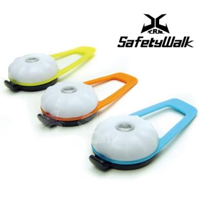 USB充電式寵物夜間安全智能LED警示燈-藍色