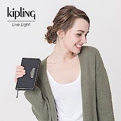 Kipling 長夾 復古質感黑-小