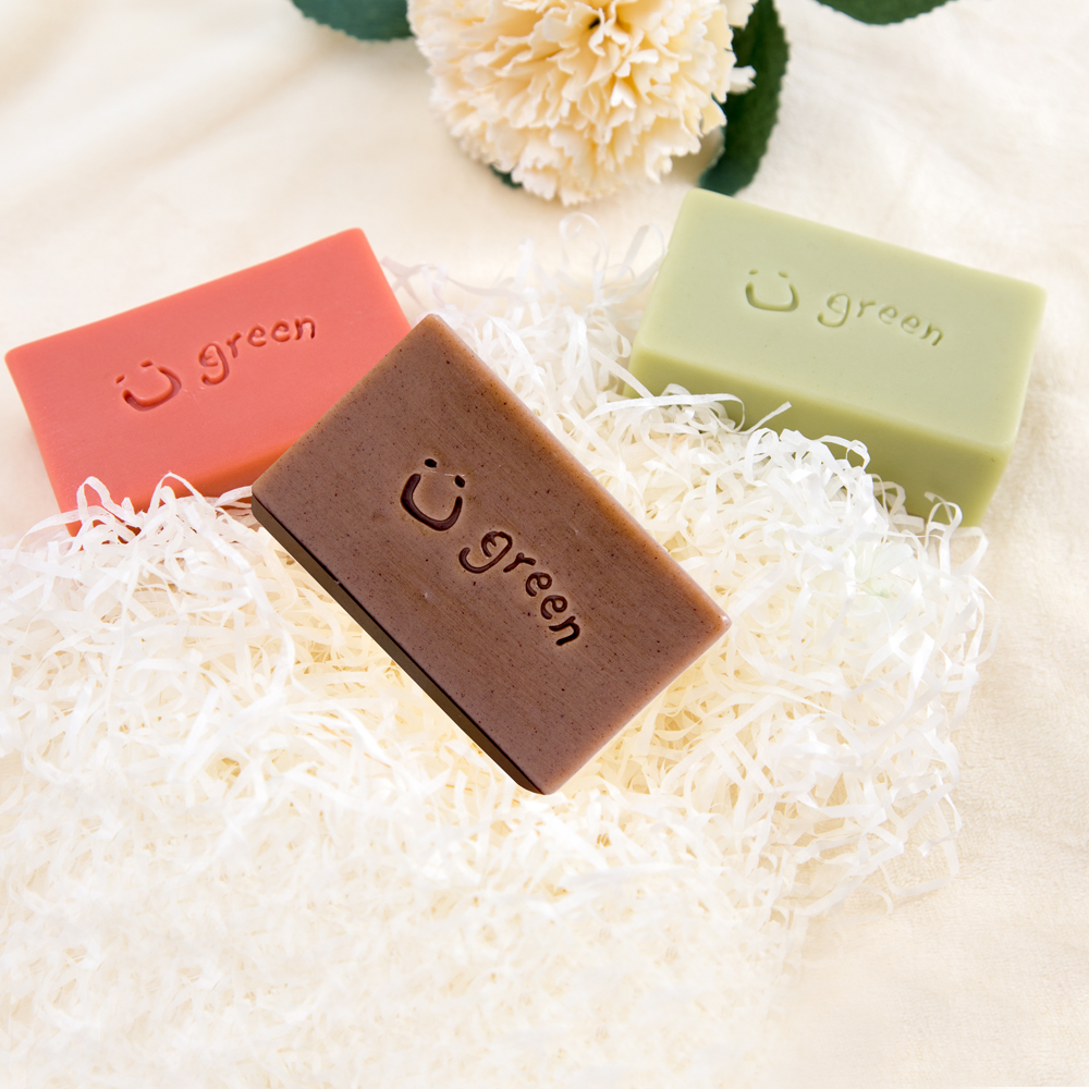 綠優園-天然植萃手工皂潤膚皂-海茴香薰衣草x1,冰花天竺葵x1,玫瑰草礦泥x1