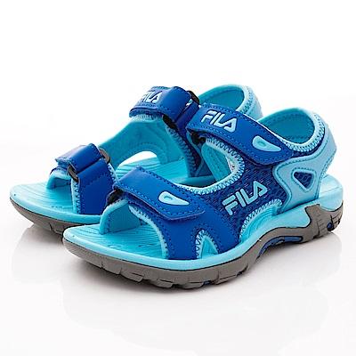 FILA頂級童鞋 運動風涼鞋款 FO30T-333藍(中小童段)