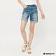 Hang-Ten-女裝-隨興反折牛仔短褲-藍 product thumbnail 1