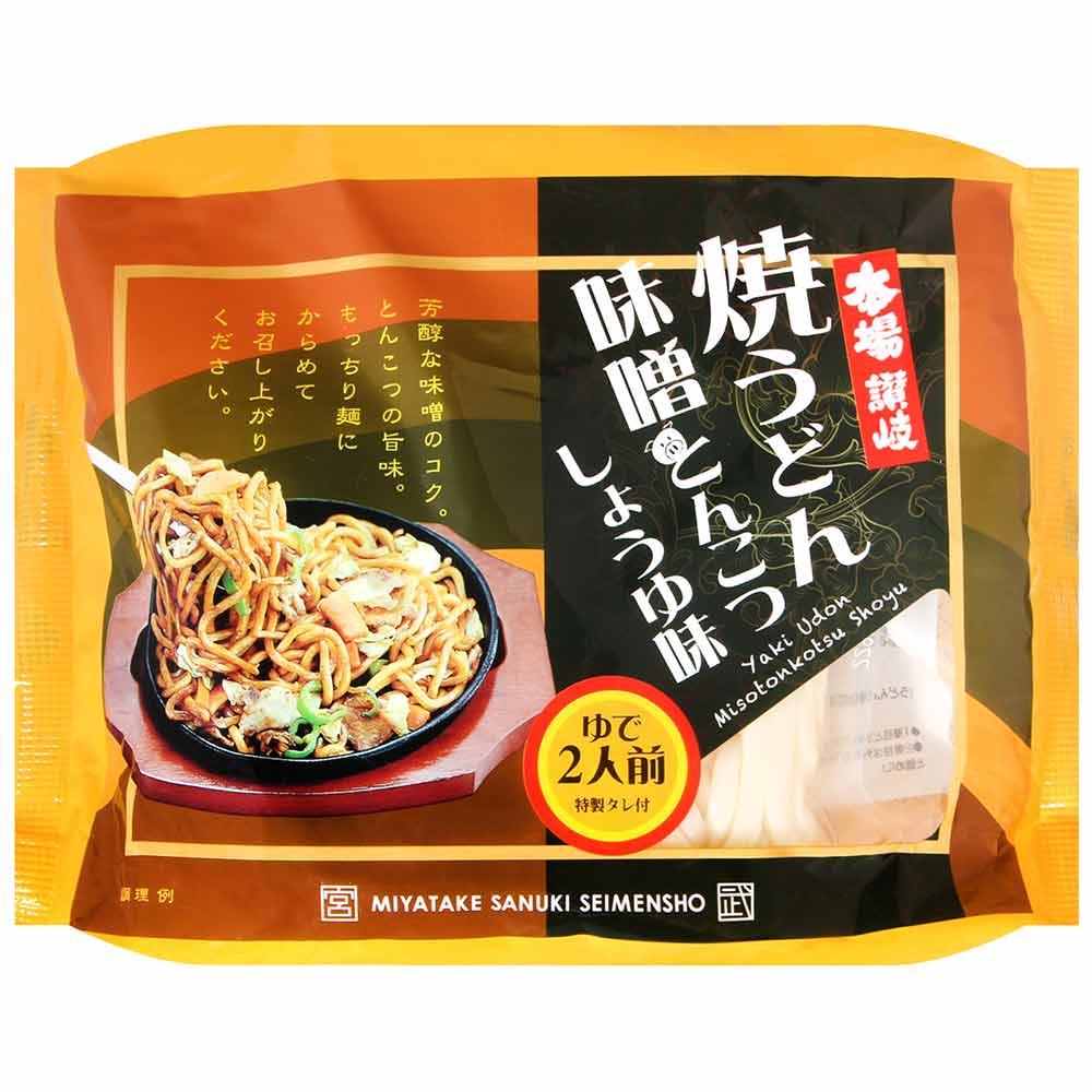 宮武讚岐 味噌豚骨醬油風味炒烏龍麵2食[附醬包](420g)