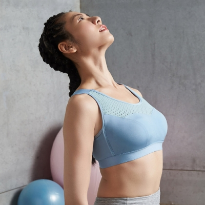 蕾黛絲-LadieSport律動 Level 3 釋壓背心 【大罩杯版】 EQ-EQL 運動內衣 躍動藍